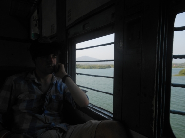Travelling on the train in India
