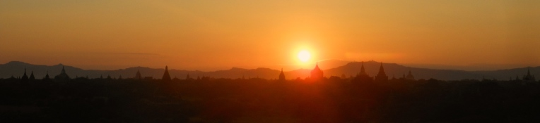 Sunset Bagan Pagan Burma Myanmar Southeast Asia Travelling South East Traveling
