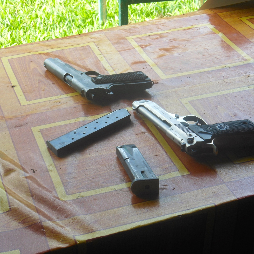 Shooting Range in Laos Southeast Asia Traveling Travelling Malaysia Thailand Singapore Guns Weapons Colt Magnum M16
