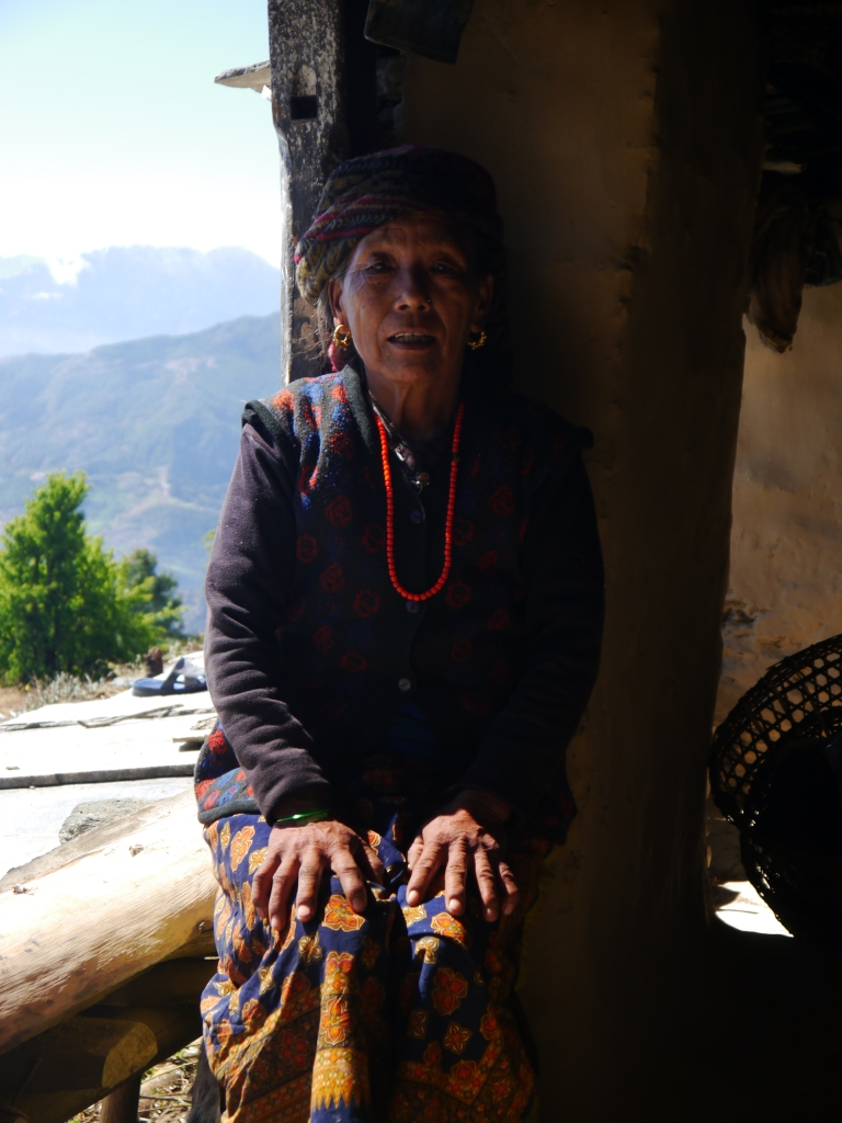 Nangi Village Annapurna Circuit Nepal Everest Mountain Trek Village Lady Woman Girl Earthquake Charity Appeal Relief Donate