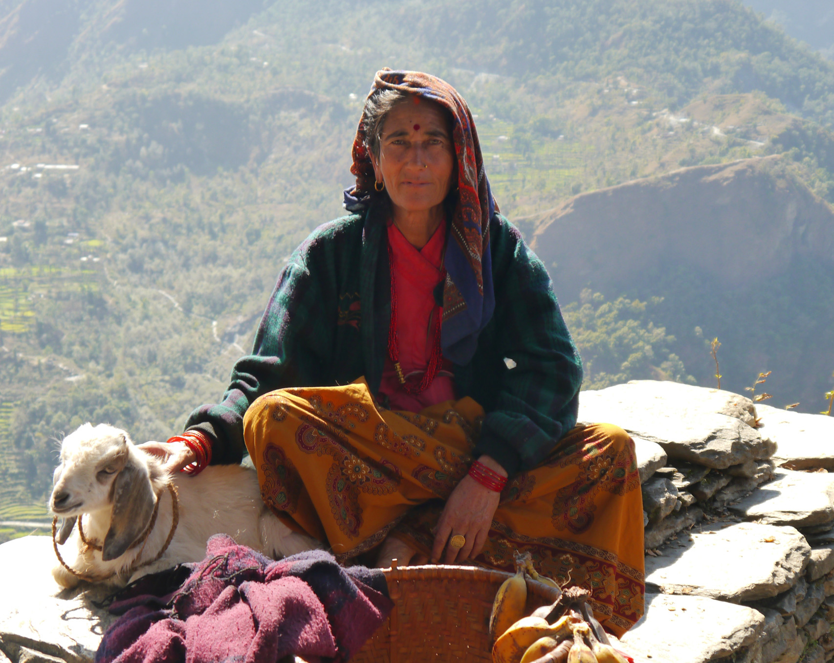 Nangi Village Annapurna Circuit Nepal Everest Mountain Trek Village Lady Woman Girl