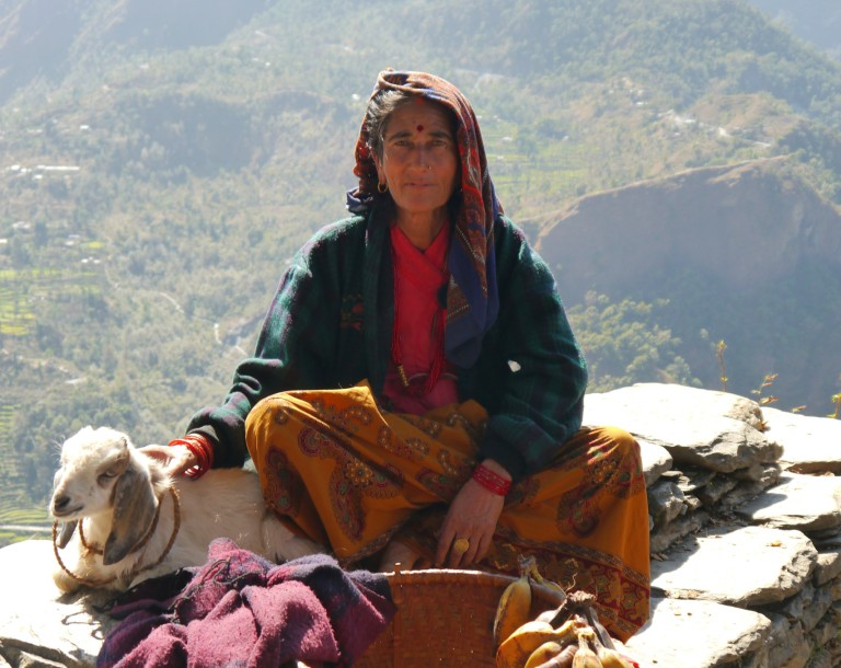 Nangi Village Annapurna Circuit Nepal Everest Mountain Trek Village Lady Woman Girl Charity Appeal Relief Donate