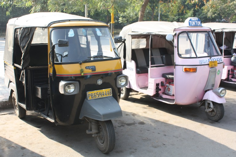 pink rickshaw india chandigarh