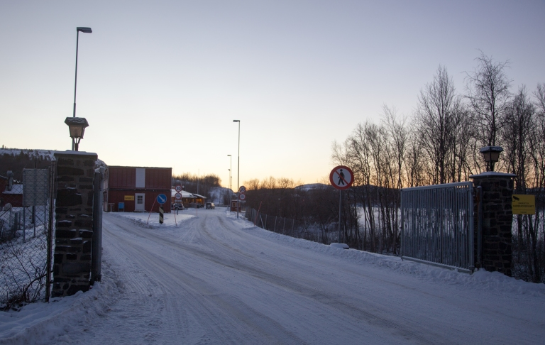 Russian Border by Kirkenes, Norway